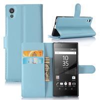 Graines peňaženkové puzdro pre mobil Sony Xperia XA1 - svetlomodré