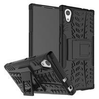 Outdoor odolný obal so stojančekom na Sony Xperia XA1 - čierny