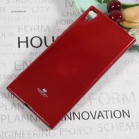 MG jemno trblietavý gélový obal pre Sony Xperia XA1 Ultra - červený