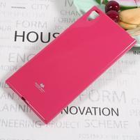 MG jemno trblietavý gélový obal pre Sony Xperia XA1 Ultra - rose