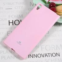 MG jemno trblietavý gélový obal pre Sony Xperia XA1 Ultra - ružový