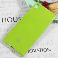 MG jemno trblietavý gélový obal pre Sony Xperia XA1 Ultra - zelený
