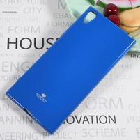 MG jemno trblietavý gélový obal pre Sony Xperia XA1 Ultra - modrý