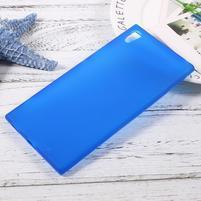 Matný gélový obal pre Sony Xperia XA1 Ultra - modrý
