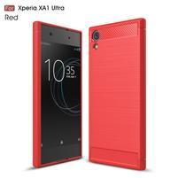 Carbo obolný gélový obal na Sony Xperia XA1 Ultra - červený