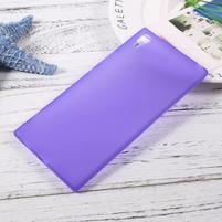 Matný gélový obal pre Sony Xperia XA1 Ultra - fialový
