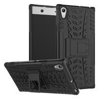 Outdoor odolný obal so stojančekom na Sony Xperia XA1 Ultra - čierny