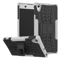 Outdoor odolný obal so stojančekom na Sony Xperia XA1 Ultra - biely
