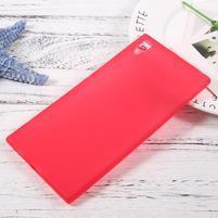 Matný gélový obal pre Sony Xperia XA1 Ultra - červený