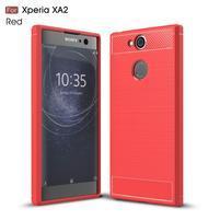 Brush odolný gélový obal na Sony Xperia XA2 - červený