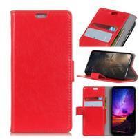 Stand PU kožené puzdro na mobil Sony Xperia XA2 Plus - červené