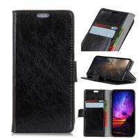 Stand PU kožené puzdro na mobil Sony Xperia XA2 Plus - čierne