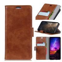 Stand PU kožené puzdro na mobil Sony Xperia XA2 Plus - hnedé