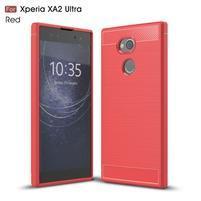 Brush gélový odolný obal na Sony Xperia XA2 Ultra - červený