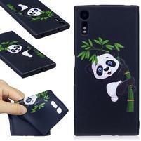 Matty gélový obal na Sony Xperia XZ - panda na bambuse