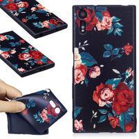 Matty gélový obal na Sony Xperia XZ - ruže