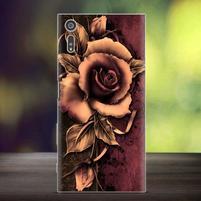 Bossy gélový obal pre mobil Sony Xperia XZ - ruže