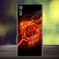 Bossy gélový obal pre mobil Sony Xperia XZ - ohnivá ruže