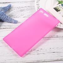 Matný gelový obal na mobil Sony Xperia XZ Premium - rose