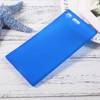 Matný gelový obal na mobil Sony Xperia XZ Premium - modrý