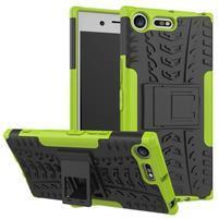 Outdoor odolný obal na mobil Sony Xperia XZ Premium - zelený