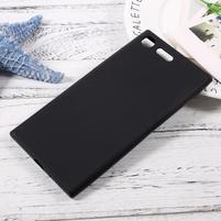 Matný gelový obal na mobil Sony Xperia XZ Premium - čierny