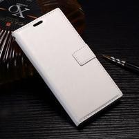 Wallet PU kožené zapínacie puzdro na Sony Xperia XZ Premium - biele