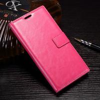Wallet PU kožené zapínacie puzdro na Sony Xperia XZ Premium - rose
