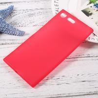 Matný gelový obal na mobil Sony Xperia XZ Premium - červený