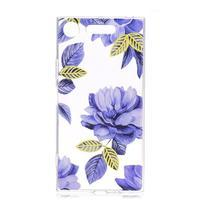 Patty gélový obal na Sony Xperia XZ1 - modré kvety