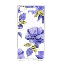 Patty gélový obal na Sony Xperia XZ1 Compact - modrý kvet
