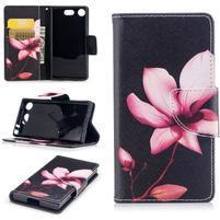 Printy PU kožené zapínacie puzdro na Sony Xperia XZ1 Compact - elegant