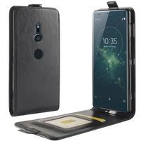 Flipové puzdro z PU kože na mobil Sony Xperia XZ2 - čierne