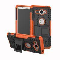 Outdoor odolný hybridný kryt na Sony Xperia XZ2 Compact - oranžový