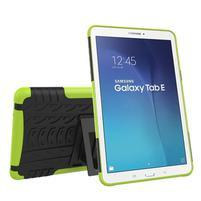 Outdoor odolný obal pre Samsung Galaxy Tab E 9.6 - zelený