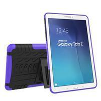 Outdoor odolný obal pre Samsung Galaxy Tab E 9.6 - fialový