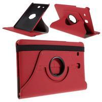 Circ PU kožené puzdro pre Samsung Galaxy Tab E 9.6 - červené