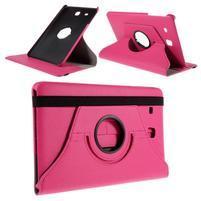 Circ PU kožené puzdro pre Samsung Galaxy Tab E 9.6 - rose