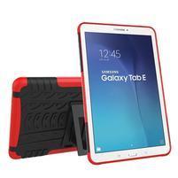 Outdoor odolný obal pre Samsung Galaxy Tab E 9.6 - červený