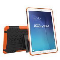 Outdoor odolný obal pre Samsung Galaxy Tab E 9.6 - oranžový