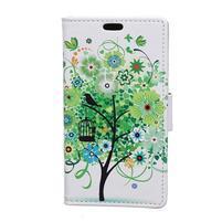 Emotive peňaženkové puzdro na mobil Vodafone Smart E8 - jarný strom