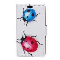 Emotive peňaženkové puzdro na mobil Vodafone Smart E8 - lienky