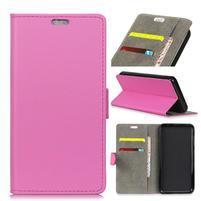 Wall PU kožené peňaženkové puzdro na Vodafone Smart N9 Lite - rose