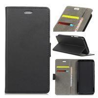 Wall PU kožené peňaženkové puzdro na Vodafone Smart N9 Lite - čierne