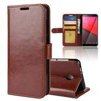 Horse PU kožené peňaženkové puzdro na Vodafone Smart N9 Lite - hnedé