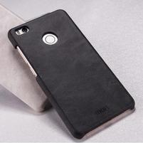 Mofi plastový obal s PU koženým chrbtom pre Xiaomi Mi4S - čierné