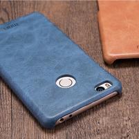 Mofi plastový obal s PU koženým chrbtom pre Xiaomi Mi4S - tmavomodré