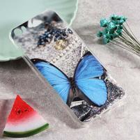 Softy gelový obal s potiskem na Xiaomi Mi 5 - motýľ