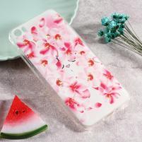 Softy gelový obal s potiskem na Xiaomi Mi 5 - kvetinky