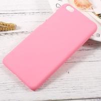 Rubber pogumovaný plastový obal pre Xiaomi Mi 5c - ružový